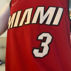 Dwayne Wade Miami Heat Red Large Jersey